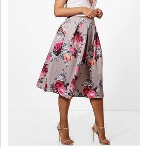 c37436650c45a5 Boohoo Plus Skirts | Plus Leather Look Box Pleat Midi Skirt | Poshmark